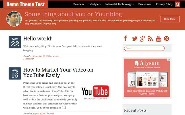 WriterStrap Free WordPress Theme