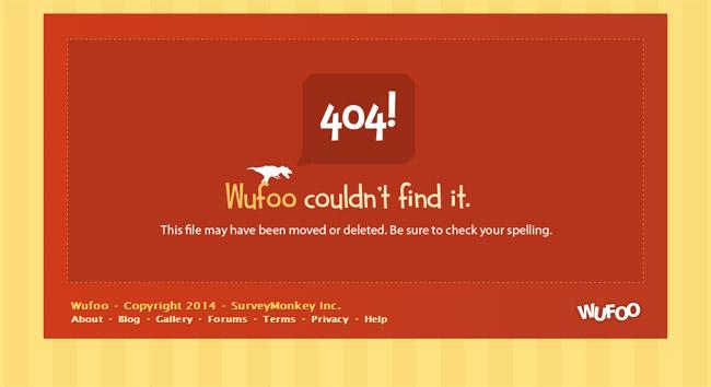 Wufoo Error Page