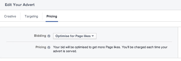 Optimise Facebook Campaign for Likes