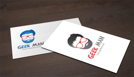 Free Nerd Geek Man Logo