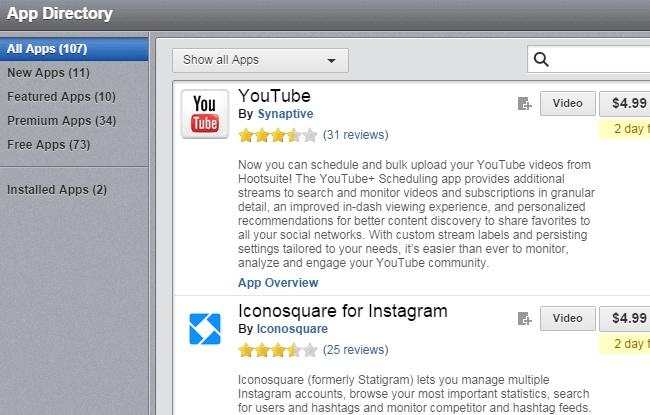 Hootsuite Pro App Library