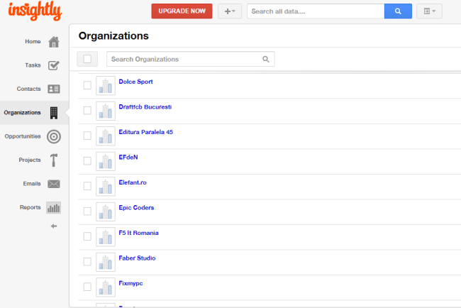 Insightly Organizations