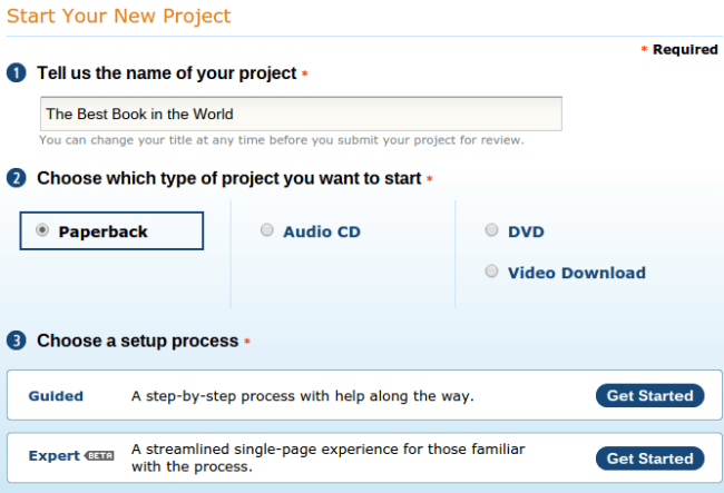 Start Your New Project