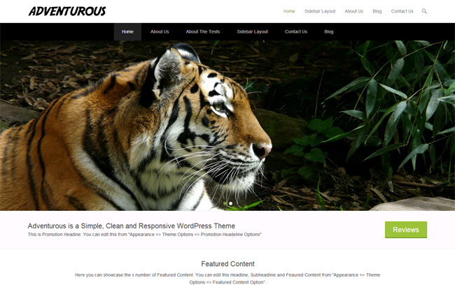 Adventurous Free WordPress Theme