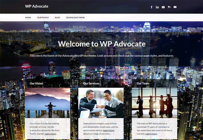 WP Advocate Free WordPress Theme