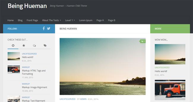 Being Hueman Free WordPress Theme
