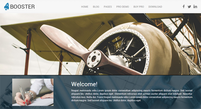 Booster Free WordPress Theme