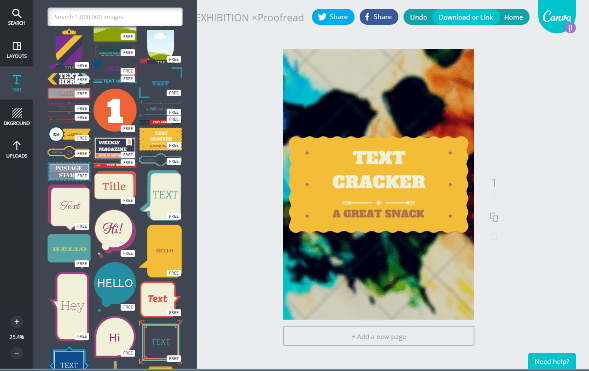 Editing with Canva