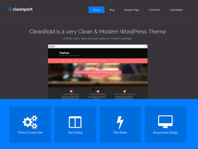 CleanPort Free WordPress Theme