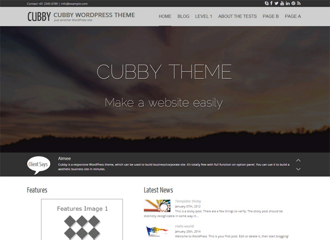 Cubby Free WordPress Theme