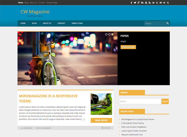 CW Magazine Free WordPress Theme