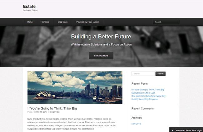Estate Free WordPress Theme