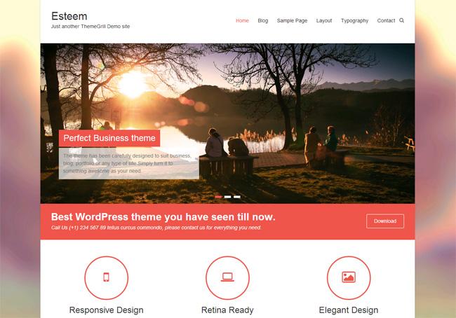 Esteem Free WordPress Theme