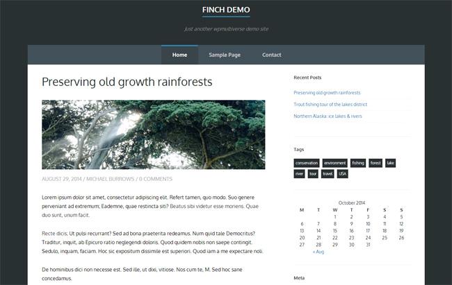 Finch Free WordPress Theme