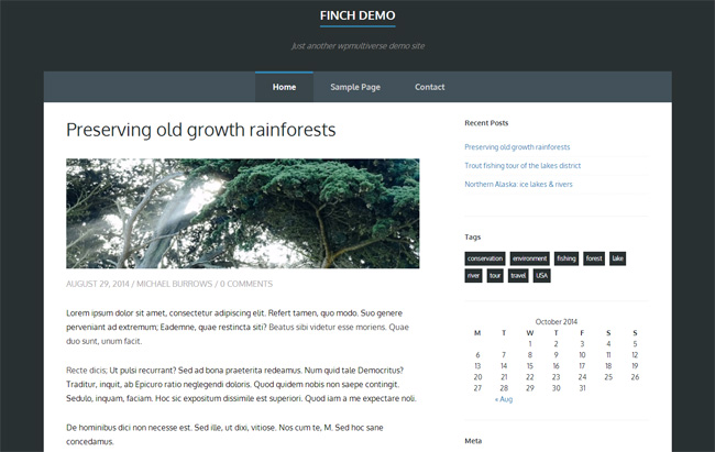 Finch Free WordPress Theme