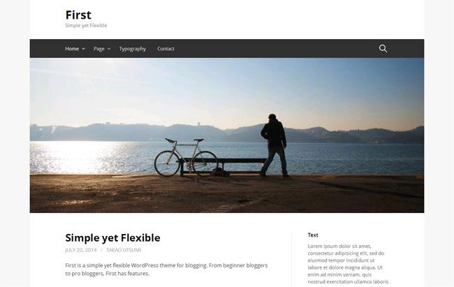 First Free WordPress Theme