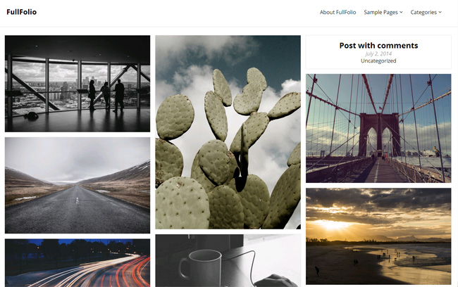 FullFolio Free WordPress Theme