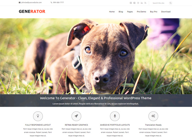 Generator Free WordPress Theme