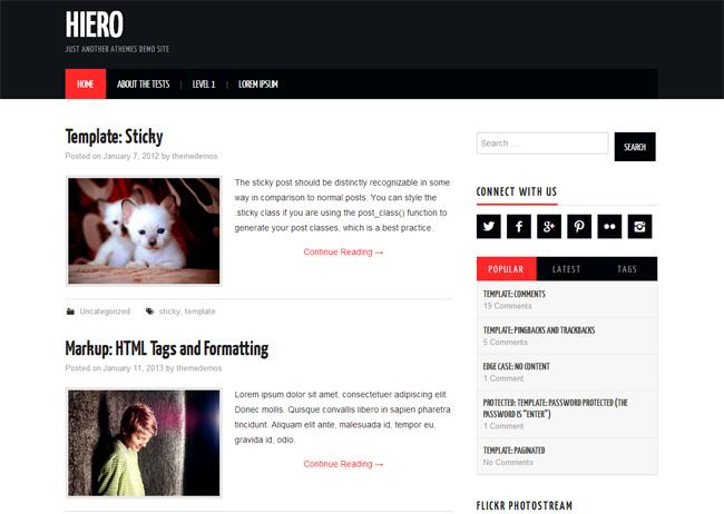 Hiero Free WordPress Theme