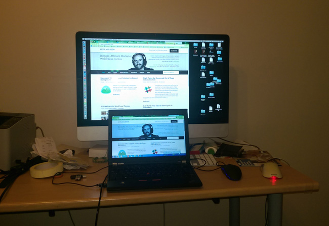 "My 27"" iMac and 12.5"" Lenovo Laptop"