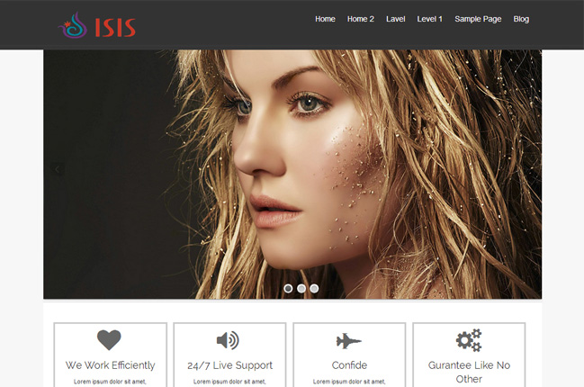 Isis Free WordPress Theme