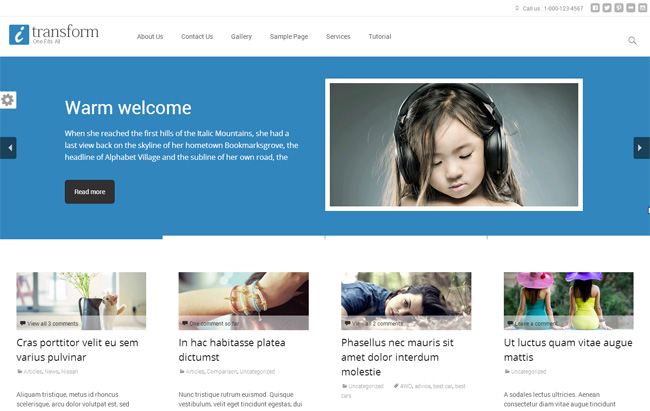 i-transform Free WordPress Theme