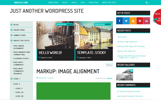 MaxFlat Core Free WordPress Theme