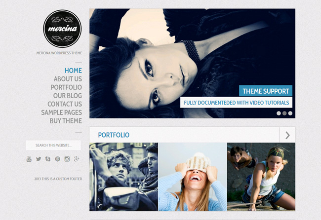 Mercina WordPress Theme