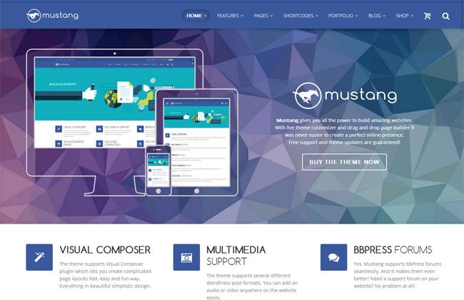 Mustang Free WordPress Theme