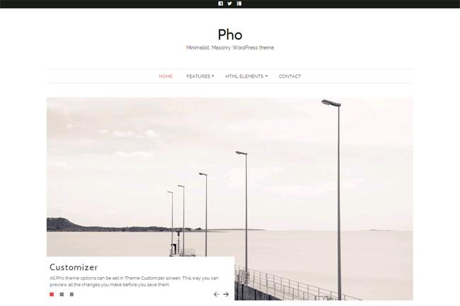 Pho Free WordPress Theme