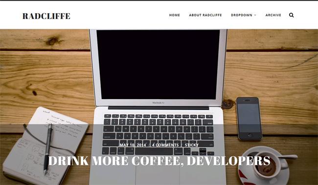 Radcliffe Free WordPress Theme