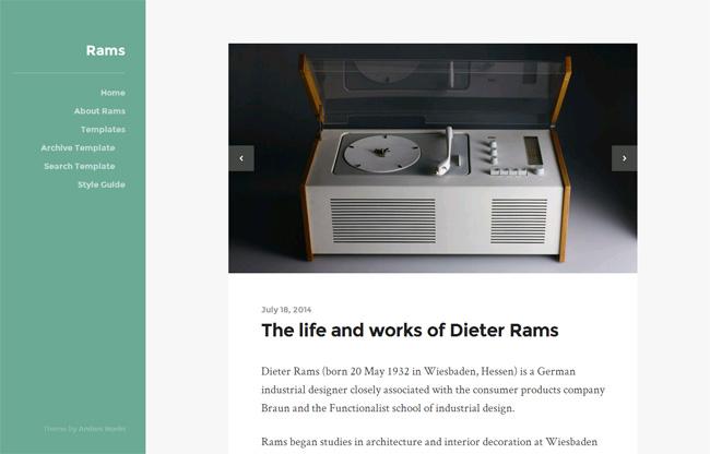 Rams Free WordPress Theme