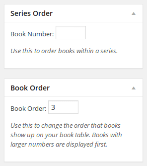 Series order and book order
