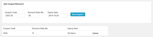 Coupon Settings of WordPress Simple Paypal Shopping Cart