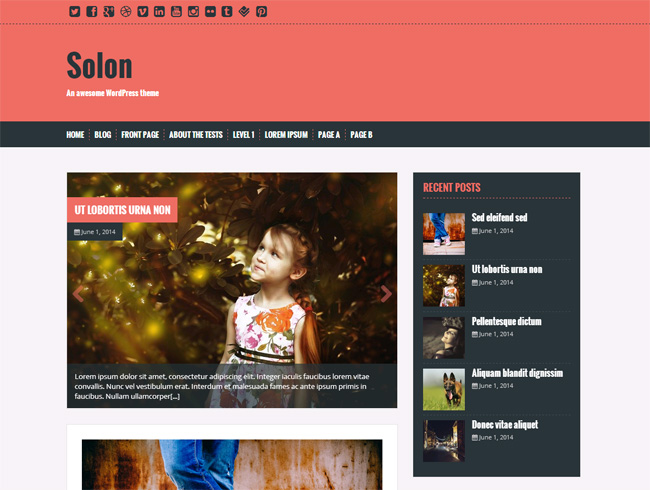 Solon Free WordPress Theme