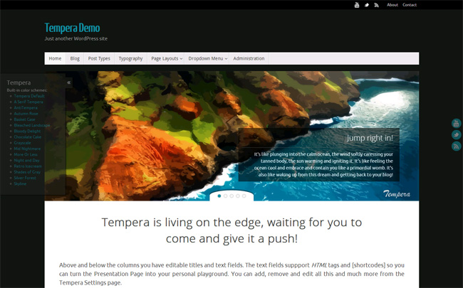Tempera Free WordPress Theme