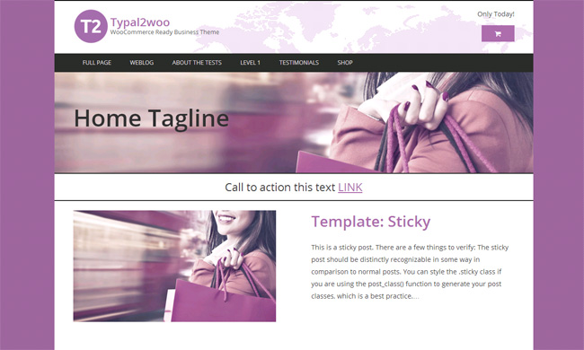 Typal2woo Free WordPress Theme