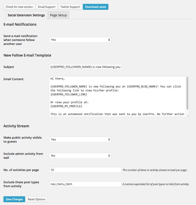 UserPro Social Extension