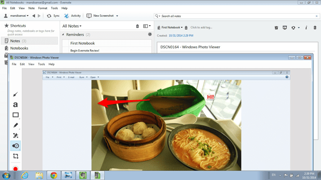 Evernote Screen Capture