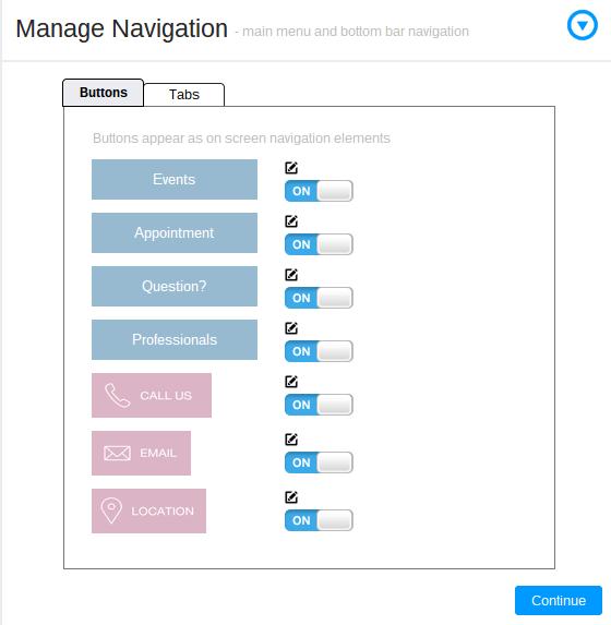Manage Navigation Buttons