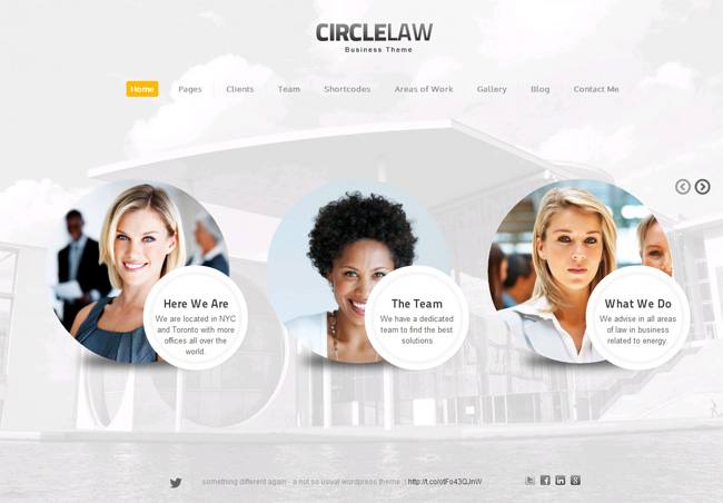 CircleLaw Premium WordPress Theme