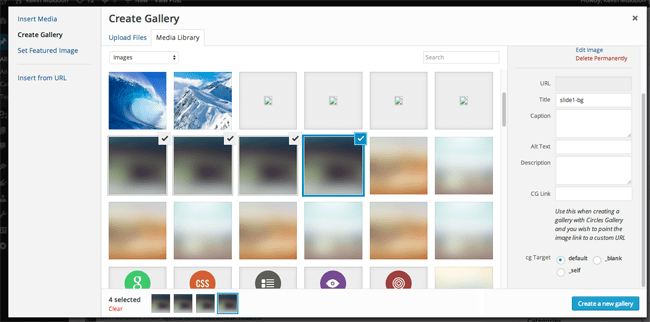 Create a Gallery with Circles Gallery