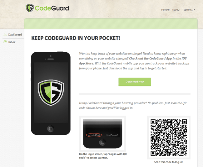 CodeGuard Mobile App