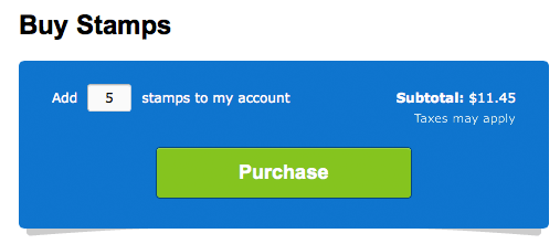 Freshbooks Stamps Purchase