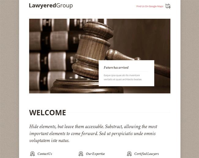 Lawyered Group Premium WordPress Theme