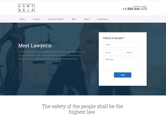 Lawyeria Premium WordPress Theme