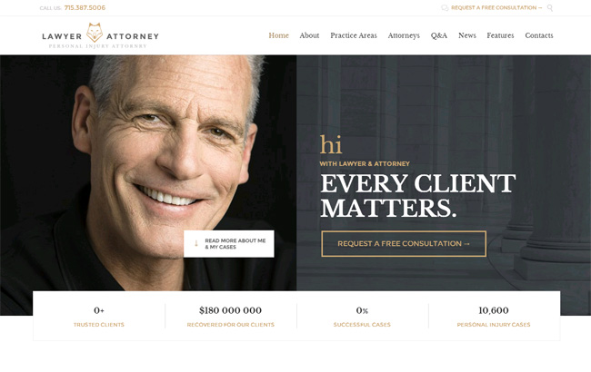 Lawyers Attorneys Premium WordPress Theme