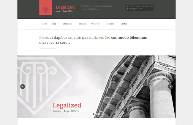 Legalized Premium WordPress Theme