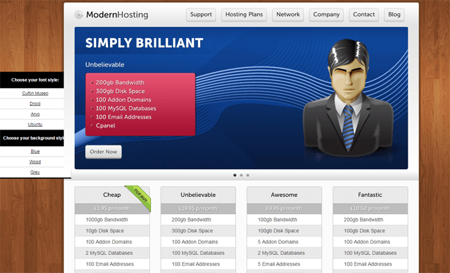 Modern Hosting WordPress Theme