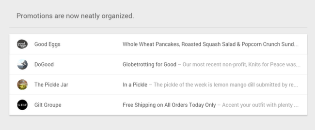Inbox: Promotions